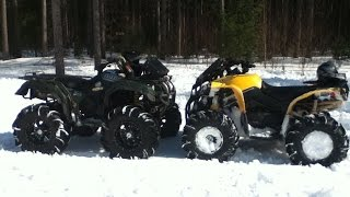 "Renegade 1000 and a Yamaha Grizzly 660 on 31"" outlaws"