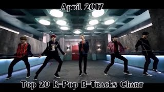 [TOP 20] K-Pop B-Tracks Chart (April 2017)