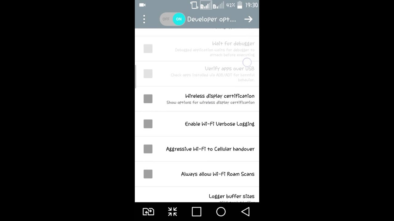 Force RTL layout direction on LG Bello android 5.0.2 - YouTube