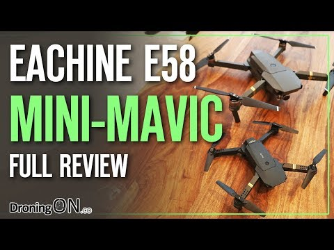Eachine E58 'DJI Mavic Mini' Unboxing, Comparison & Flight Test