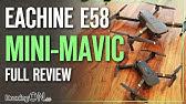Eachine E58 &#39Mini DJI Mavic&#39 Unboxing, Comparison &amp Flight Test