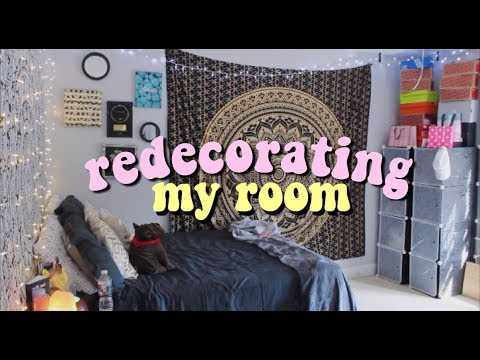 New Room Redecorating My Room 2018 Youtube