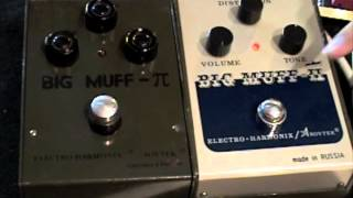 Big Muff Shootout Sovtek Green Russian vs Civil War Big Muff Pi comparison