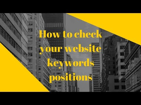 How to check your website keywords positions
