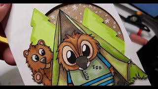 New JessicaLynnOriginal Release! Camping in the Woods with Brentwood Owl Tutorial How to