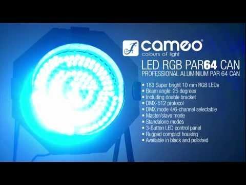 Cameo Light PAR 64 CAN - 183 x 10 mm LED PAR Can 64 RGB