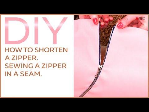 DIY: How to shorten a zipper. Sewing a zipper in a seam.