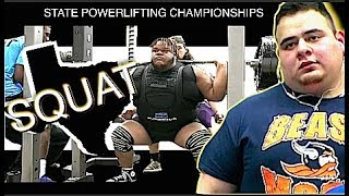 Texas State Powerlifting Championship (Boys) 2018 | Part 1 | SQUATS