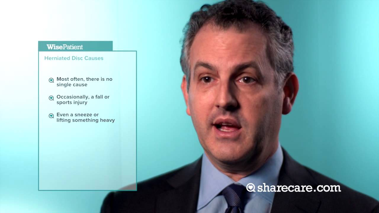 Dr. Andrew Hecht on the Causes of a Herniated Disc