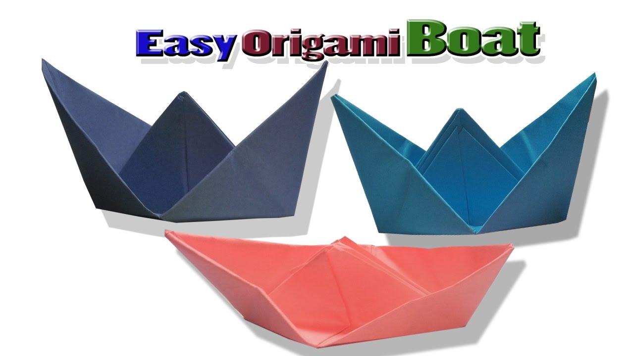 origami boat tutorialhow to make origami boatfolding