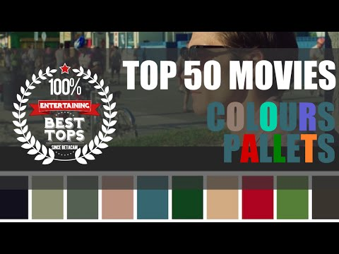 TOP 50 Color Palettes From Famous Movies Show How Colors Set The Mood Of A Film