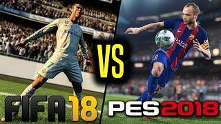 FIFA 18 VS PES 2018! PORÓWNANIE rozgrywki!