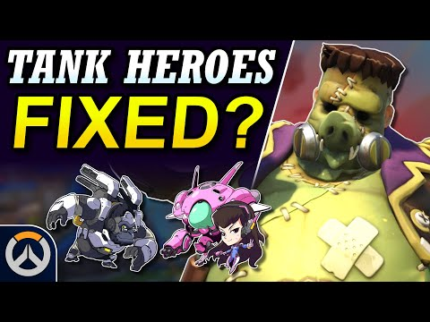 Overwatch - New Meta Tank Heroes?  Sigma, Orisa Nerfs + Winston, D.Va, Roadhog Buffs!