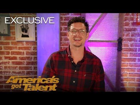Michael Ketterer Thanks Simon Cowell For The Golden Buzzer - America's Got Talent 2018
