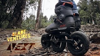Blade Ventures rainforest skating - Powerslide Next Outback 150