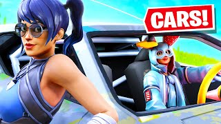 WE WON WITH A CAR IN FORTNITE