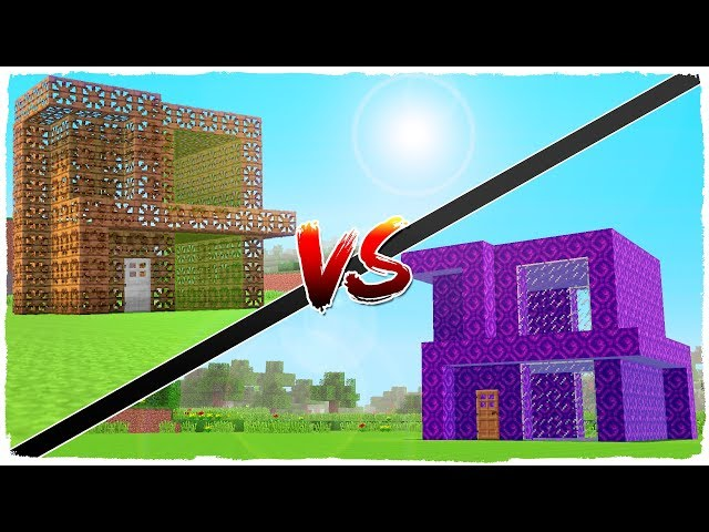 ???? Casa de PORTALES vs casa de CARPENTER - MINECRAFT