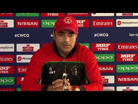 CWCQ : Afghanistan - Rashid Khan - post match press conference  20th March 2018