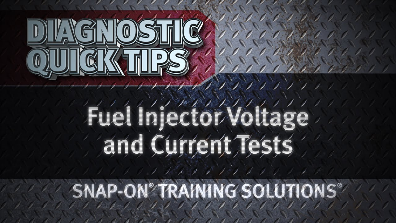 medium resolution of fuel injector voltage current tests diagnostic quick tips snap on training solutions