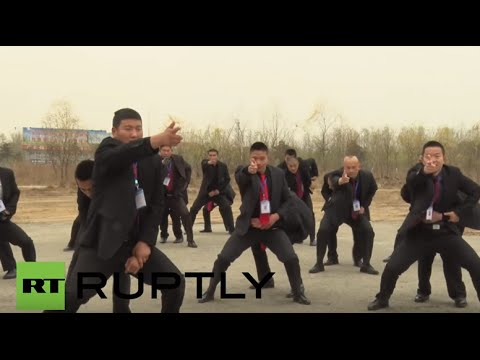 China: Trainee bodyguards show off their skills in Beidaihe, Hebei Province