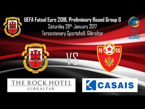 28/01/2017 - Gibraltar 1 vs 8 Montenegro - UEFA Futsal Euro Preliminary Round Group G