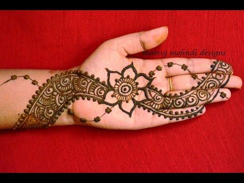 Simple Easy Henna Mehndi Design For Hands Matroj Mehndi Designs