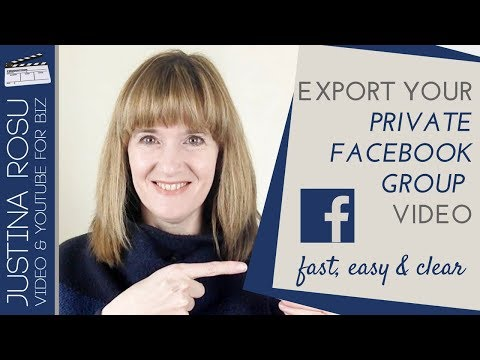 Download video from  PRIVATE FACEBOOK GROUP