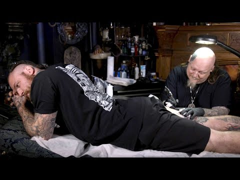 WWE's Aleister Black Gets Tattooed By Paul Booth