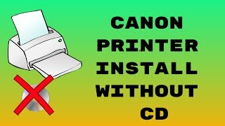Canon printer install without cd