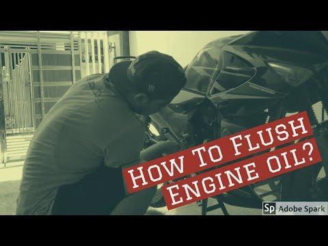 How to flush and oil change in Hero Honda Karizma