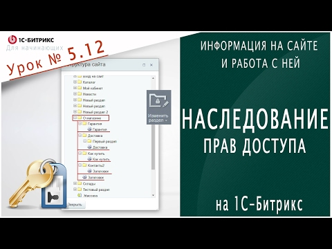 Наследование ПРАВ ДОСТУПА (1С Битрикс) Урок 5.12 - Информация на сайте