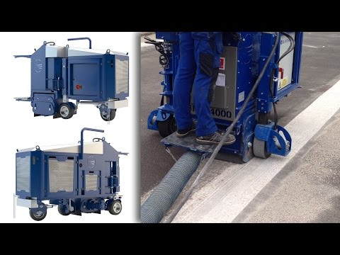 Removing Coating With Aggregate On Parking Deck | Blastrac BMP-4000 Scarifier / Milling Machine
