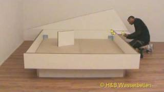 play aufbau wasserbett split softside lederlook. Black Bedroom Furniture Sets. Home Design Ideas