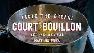 Classic Court Boullion - a classic technique for poaching delicious shrimp