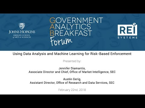 GAB Forum - Using Data Analysis & Machine Learning for Risk-Based Enforcement - 2.18.2018
