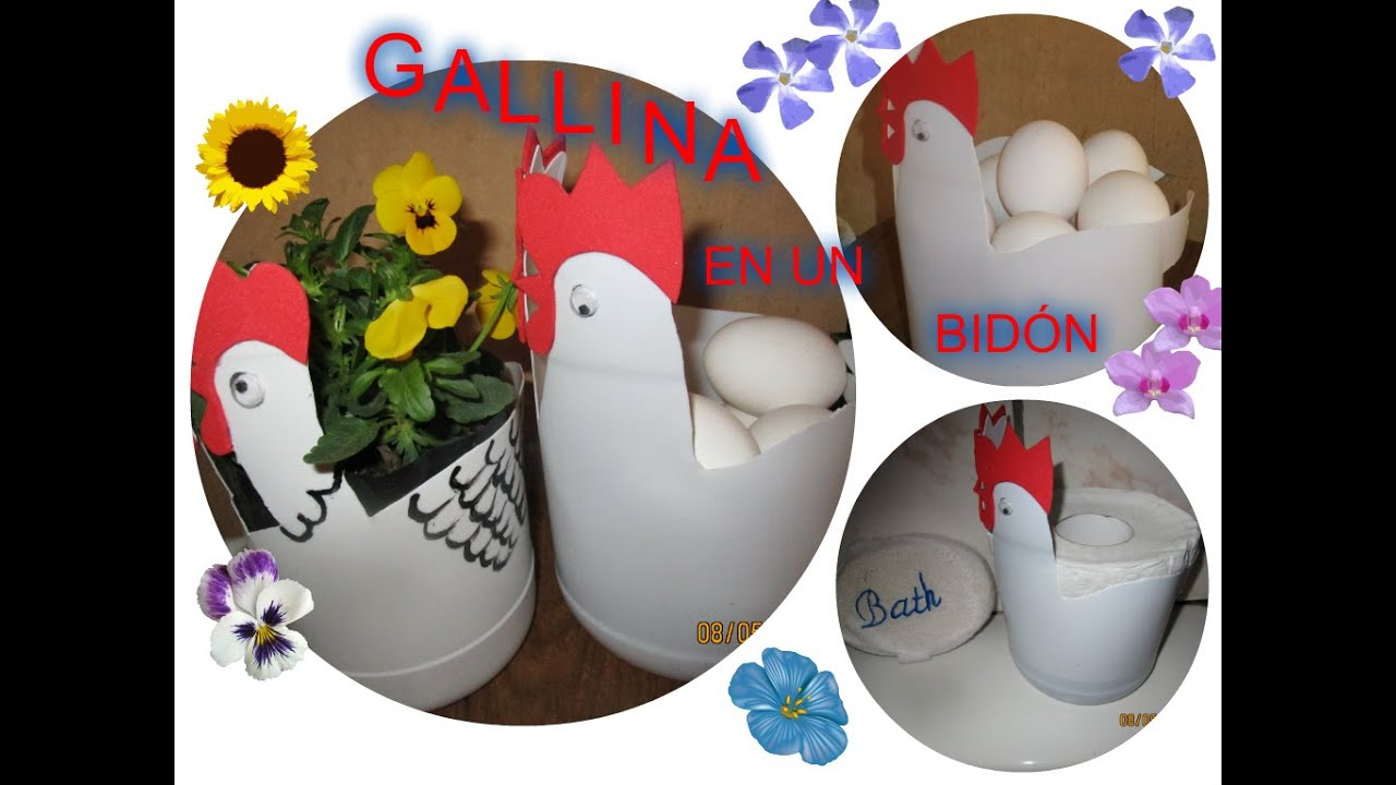 Gallina en un bid n luz mireya martinez youtube for Bordillos de plastico para jardin