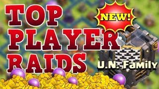 TOP PLAYER ATTACKS IN THE WORLD (U.N. FAMILY) CLASH OF CLANS!