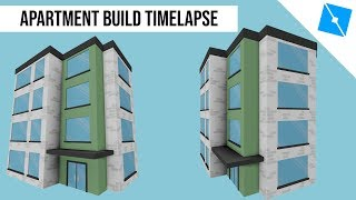 Roblox Mini Builds - Low Poly Apartment Speed Build