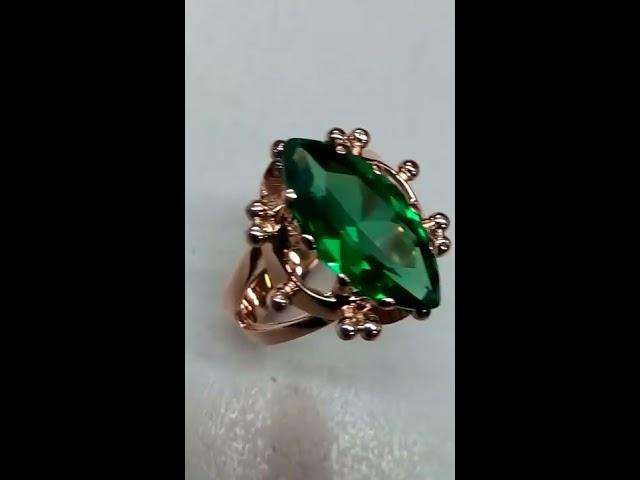 Золотое кольцо 585 с камнем фианит