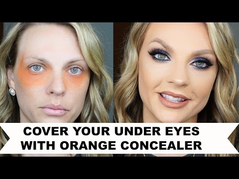 COVER YOUR UNDER EYES WITH ORANGE CONCEALER