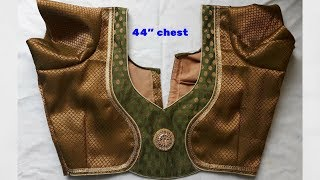 easy design blouse back neck design cutting and stitching-2018
