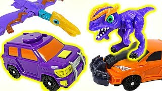 Dino Mecard new capture car Tirara's Callovis & tiny dinosaur Allosaurus appeared! - DuDuPopTOY