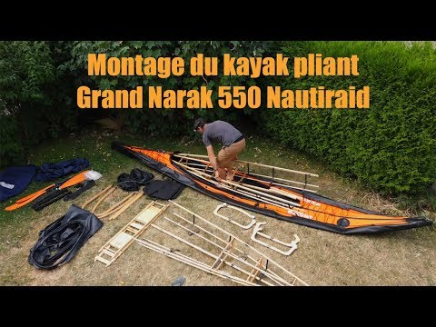 Montage du kayak pliant Nautiraid Grand Narak 550