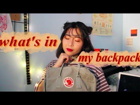 what's in my backpack kanken // muji // senior year