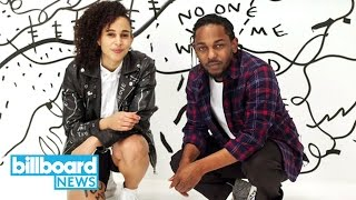connectYoutube - Kendrick Lamar & Visual Artist Shantell Martin Give Mind Blowing Art Basel Show | Billboard News