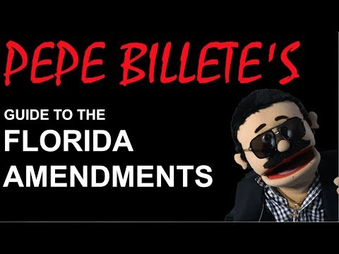 Pepe Billete's Guide to the Florida Amendments