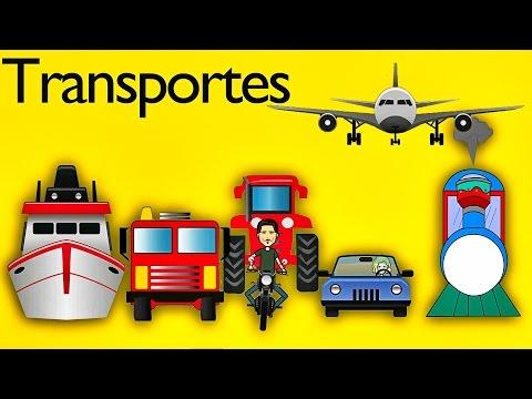 La Canción De Los Transportes para Niños - Canciones Infantiles - Videos Educativos Lunacreciente