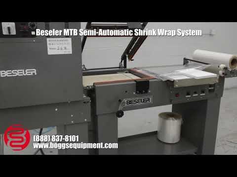 Beseler MTB Semi-Automatic Shrink Wrap System w/ Magnetic Lockdown