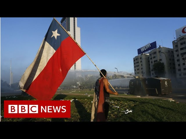 Chile protests: Clashes in Santiago as unrest continues - BBC News