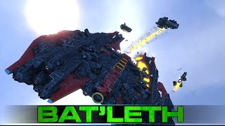 Space Engineers - The 'Bat'leth' Corvette & Battle Testing (Building a Fleet)